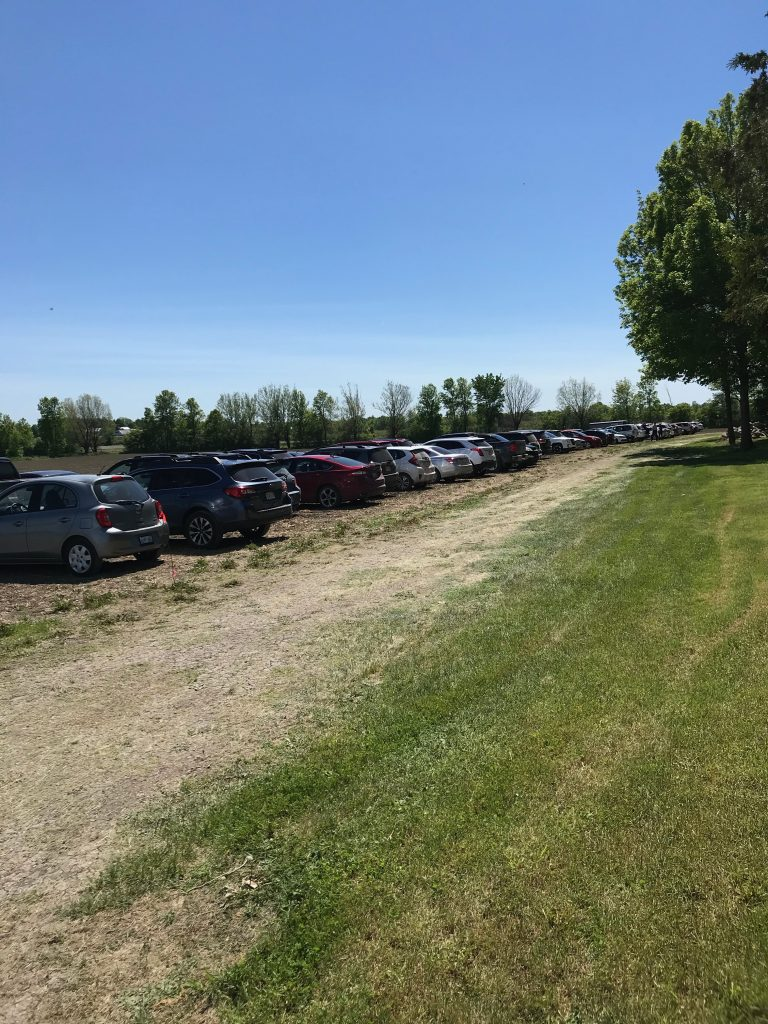 Parking area was filling
